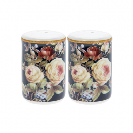 Rose Blossom Salt & Pepper Fine China Pots
